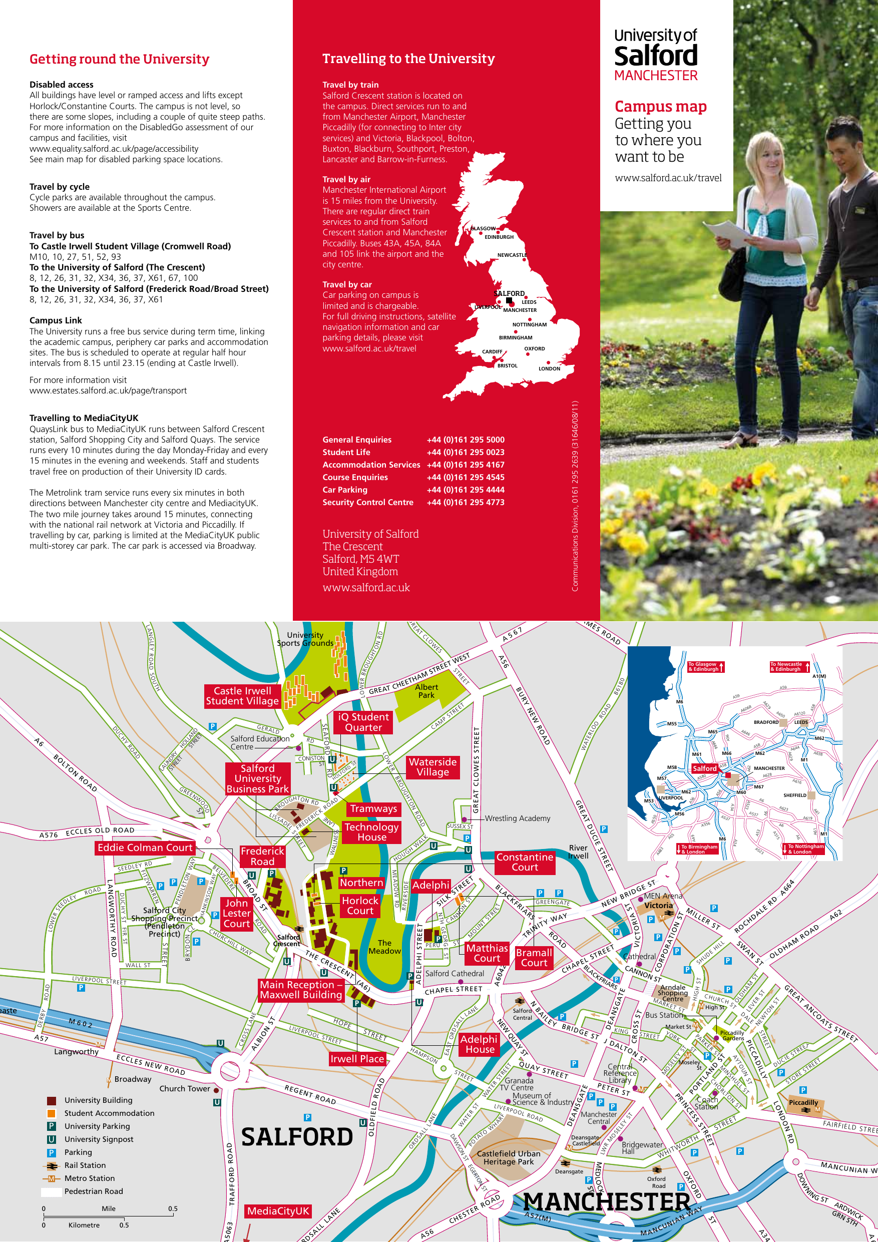 University Of Salford Campus Map And Guide