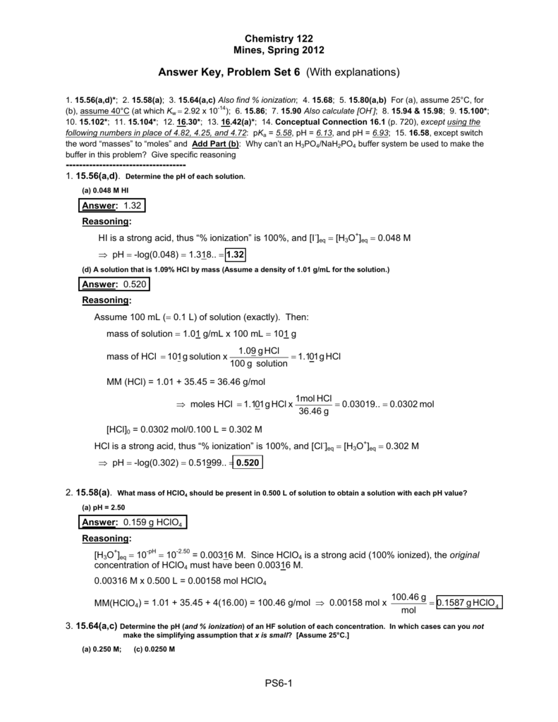 Answer key problem set 6 with explanations robcynllc Choice Image