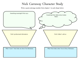 a literary analysis of the main character nick carroway in the great gatsby by f scott fitzgerald The characters of f scott fitzgerald's the great gatsby in the great gatsby, by f scott fitzgerald, the main characters tom and gatsby are both similar and different in their attitudes and their status.
