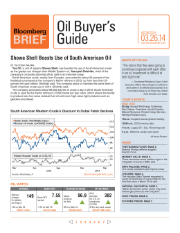 Oil Buyer's Guide - Bloomberg Briefs