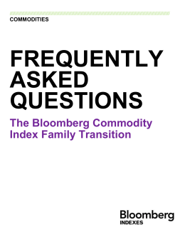 The Bloomberg Commodity Index Family Transition
