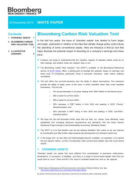 Bloomberg Carbon Risk Valuation Tool