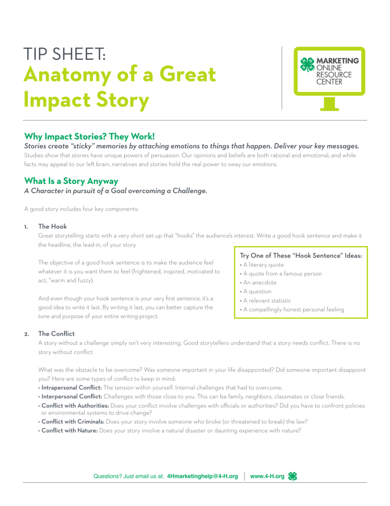 Anatomy of a Great Impact Story - 4-H
