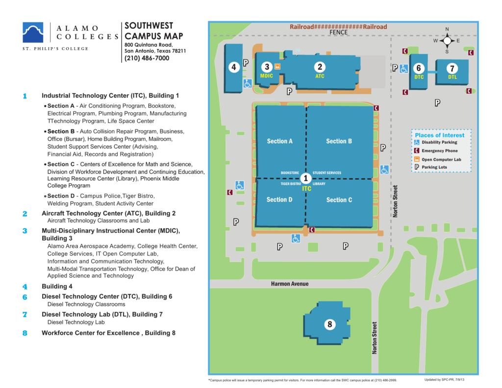 st philips campus map P P P P P P P P Southwest Campus Map 2 3 st philips campus map