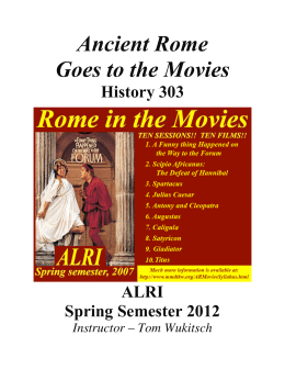 Ancient Rome Goes to the Movies