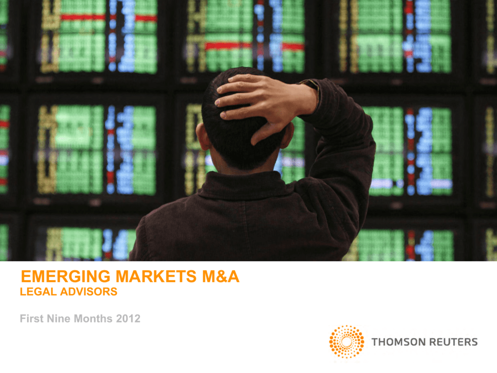 emerging markets m&a - Thomson Reuters Deal Making Intelligence