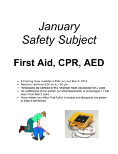 January 2014 - First Aid/CPR/AED