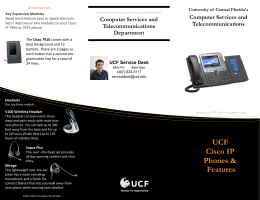 UCF Cisco IP Phones & Features