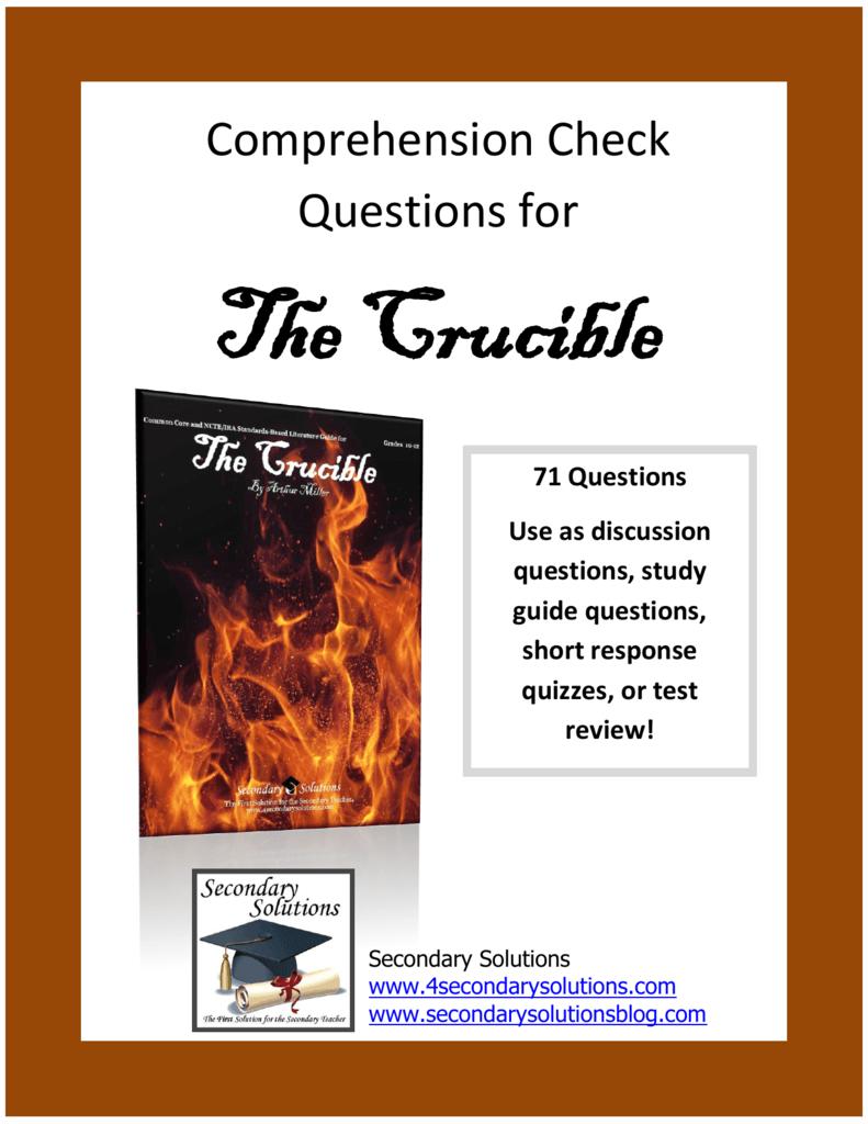 crucible study essay