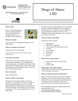Drugs of Abuse: LSD