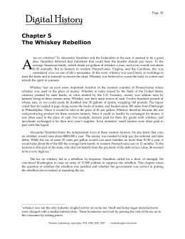 Chapter 5 The Whiskey Rebellion