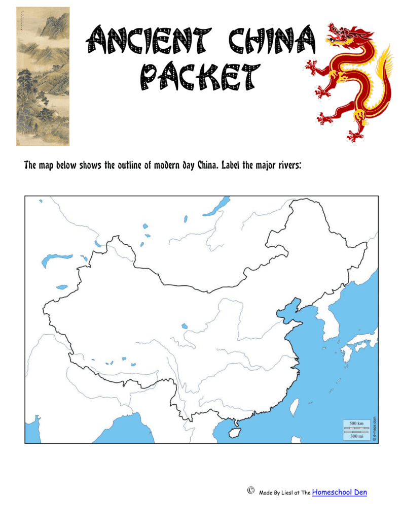 Modern Day China Map.The Map Below Shows The Outline Of Modern Day China Label The