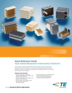High Speed Backplane Interconnect Solutions