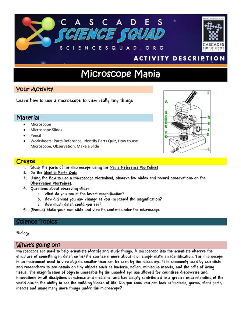 Microscope Mania