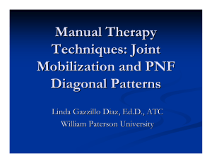 Manual Therapy Techniques: Joint Mobilization and PNF Diagonal