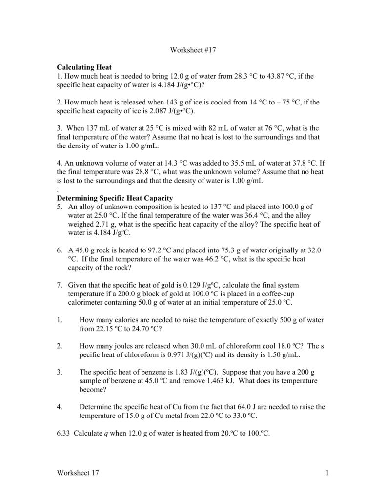 Calorimetry Equation For Final Temperature - Tessshebaylo