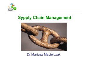 Sypply Chain Management