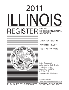Illinois Register Cover 2011:Layout 1