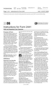 Instructions for Form 2441