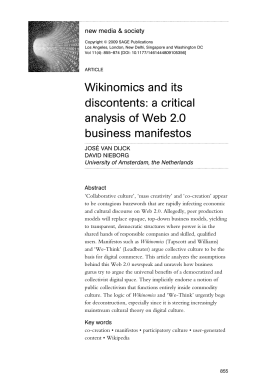 Wikinomics and its discontents: a critical analysis of