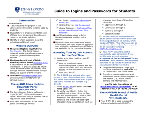 Guide to Logins and Passwords for Students