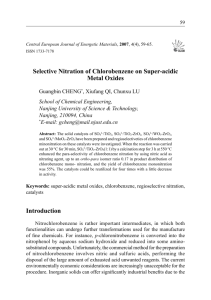 Selective Nitration of Chlorobenzene on Super