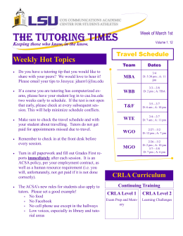 THE TUTORING TIMES THE TUTORING TIMES