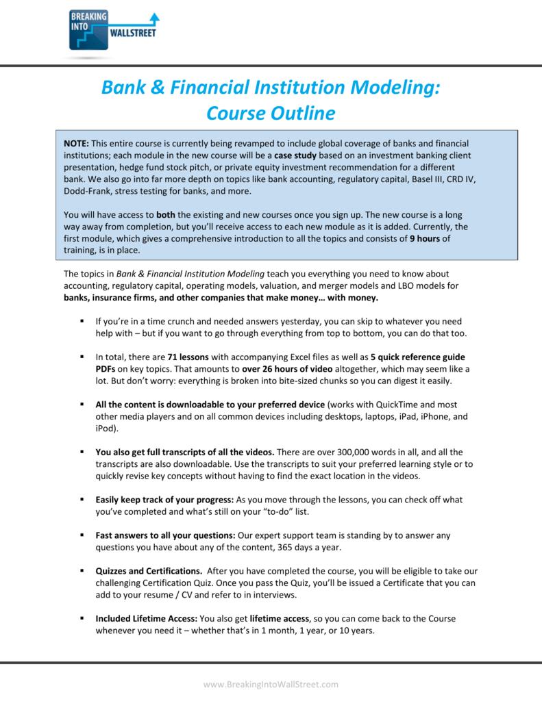 Bank & Financial Institution Modeling