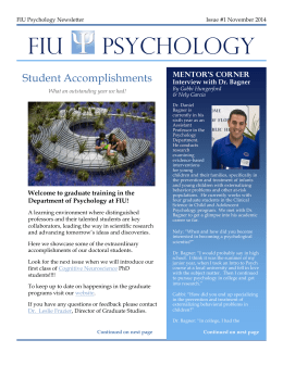 PSY GRAD Newsletter - Welcome | Department of Psychology