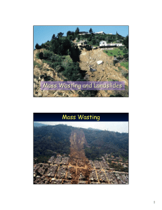 Mass Wasting and Landslides Mass Wasting