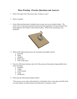 Mass Wasting –Practice Questions and Answers