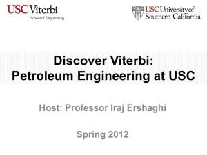Petroleum Engineering at USC - USC Viterbi School of Engineering