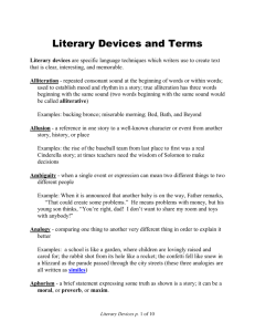 Literary Devices and Terms - Church of the Presentation