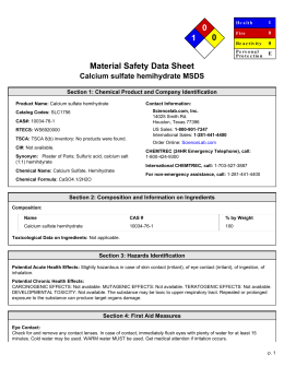 Msds For Sodium Sulfate Anhydrous
