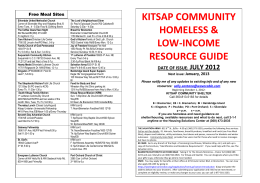 kitsap community homeless & low
