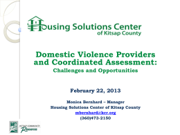 Kitsap Housing Solutions Center