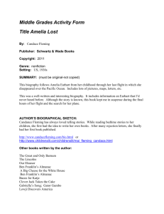 Middle Grades Activity Form Title Amelia Lost