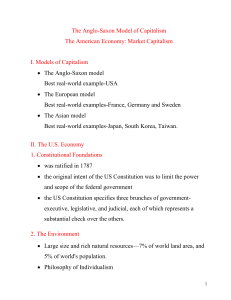 The AngloSaxon Model of Capitalism The American Economy