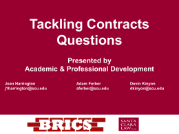Tackling Contracts Questions