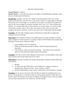 Informative Speech Outline General Purpose: To Inform Specific