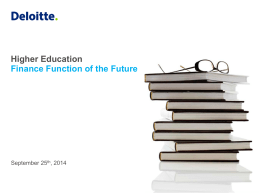 Deloitte: Higher Education - Finance Function of the Future