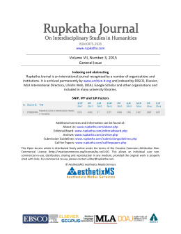 Full Text PDF - The Rupkatha Journal on Interdisciplinary Studies in
