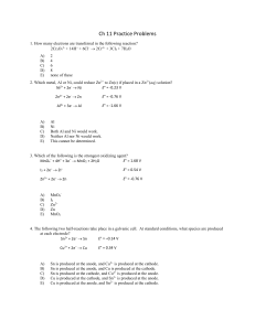 Ch 11 Practice Problems