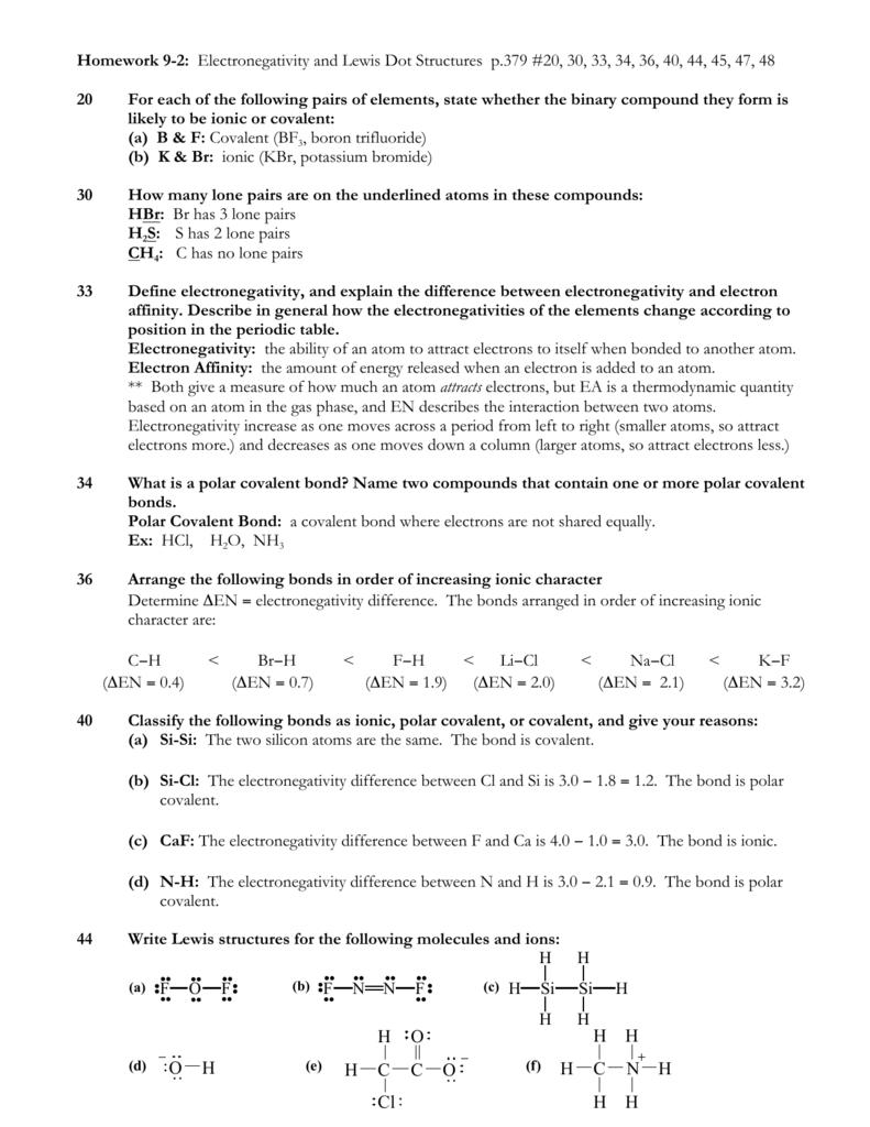 Chem 2 Ap Hw 9