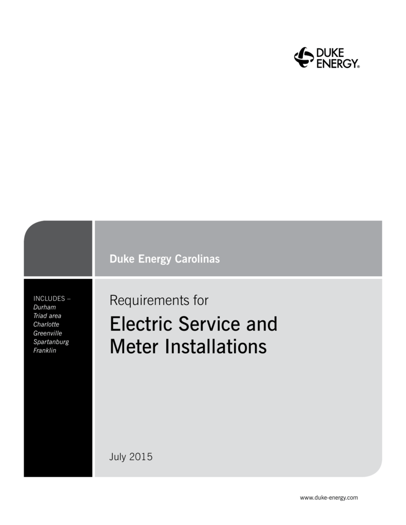 Electric Service and Meter Installations on
