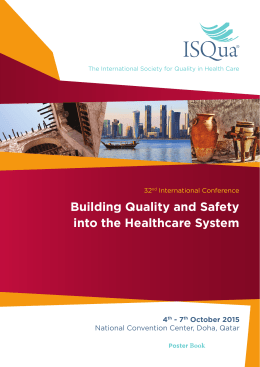 Building Quality and Safety into the Healthcare System
