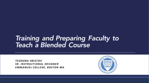 Training and Preparing Faculty to Teach a Blended