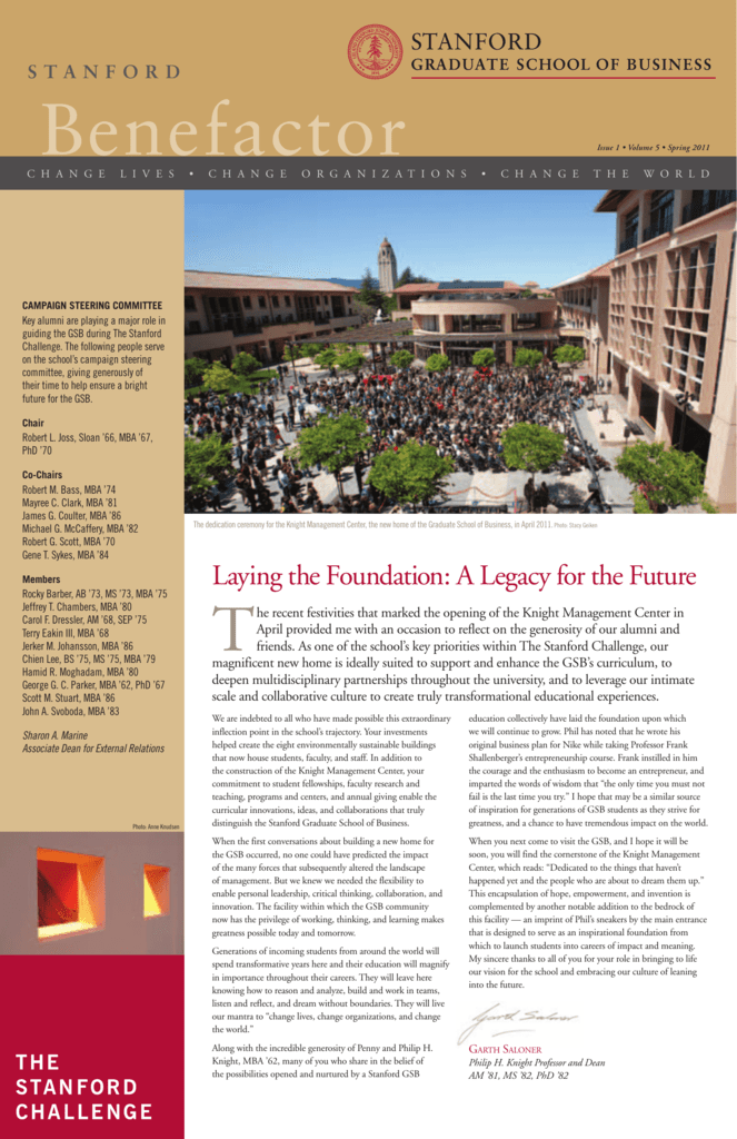 Spring 2011 - Stanford Graduate School of Business