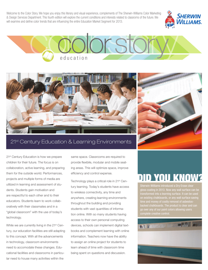 The 2013 Education Color Story Sherwin