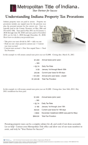 Understanding Indiana Property Tax Prorations